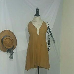Audrey 3+1 spaghetti straps beach dress M.
